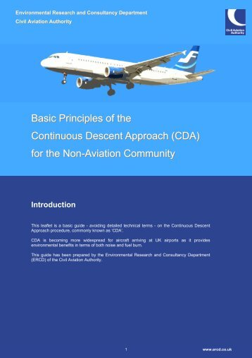 Basic Principles of the Continuous Descent Approach (CDA) for the ...
