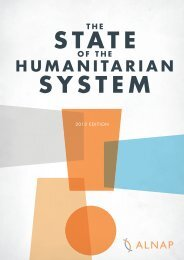 The State of the Humanitarian System: 2012 edition - alnap