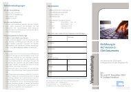 Einführung in HL7 Version 3 - CDA Dokumente - ZTG