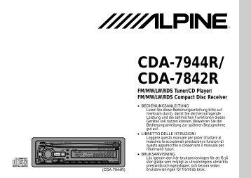 CDA-7944R/ CDA-7842R - Alpine