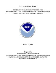 STATEMENT OF WORK SYSTEMS UPGRADE IN ... - NOAA
