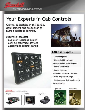 Environmentally Sealed CAN-bus Keypad - Eao