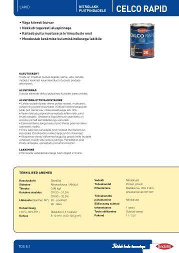 8.1 CELCO RAPID - Sadolin