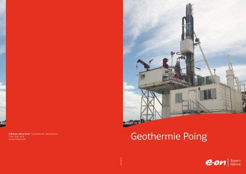 Geothermie Poing - E.ON Bayern