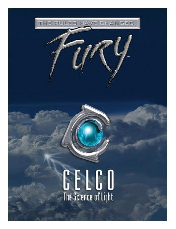the Fury Data Sheet - Celco