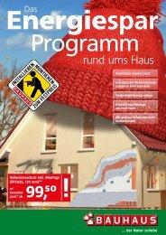 Energie Sparprogramm rund ums Haus - Bauhaus