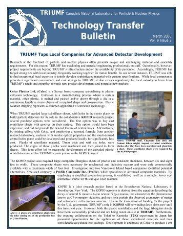 Technology Transfer Bulletin TRIUMF