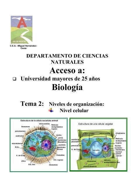 Acceso A Biología Cea Miguel Hernández Ceuta