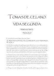 TOMAS DE CELANO VIDA SEGUNDA - Franciscanos TOR