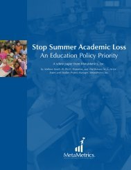 Stop Summer Academic Loss: An Education Policy Priority - Lexile