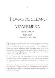 Tomás de Celano, Vida primera - Franciscanos TOR