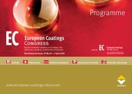 Programme - European Coatings SHOW