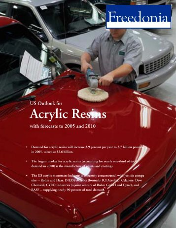 Acrylic Resins - The Freedonia Group