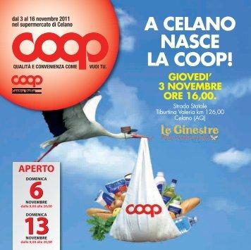 A CELANO NASCE LA COOP! - E-coop