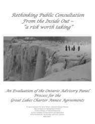 Rethinking Public Consultation From the Inside Out - Canadian ...