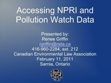 Download PDF file - Canadian Environmental Law Association
