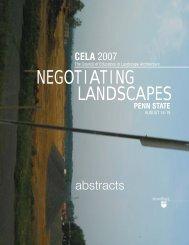 negotiating landscapes - CELA - Council of Educators in Landscape ...