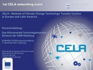 1st CELA networking event - CLIMATE 2011 / KLIMA 2011