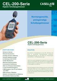 CEL-200-Serie Digitale Schallpegelmesser - Casella Measurement