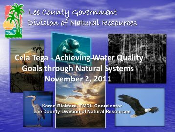 Lee County Government Division of Natural Resources Cela Tega ...