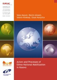 COUNTRY SPECIFIC REPORT KOSOVO - EURAC