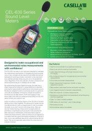 CEL-630 Series Sound Level Meters - Casella Measurement