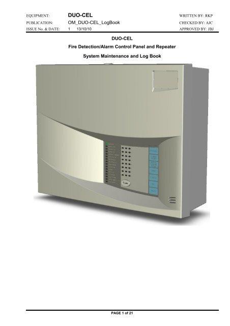 Duo Cel Log Book Control Equipment Ltd