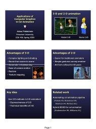 22 - Cel Animation - Princeton University