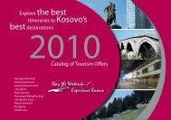 Catalog of Tourism Offers - Kosovo Guide