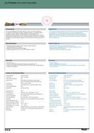 elitronic-cy liycy ul/csa elitronic-cy liycy ul/csa - TKD KABEL GmbH