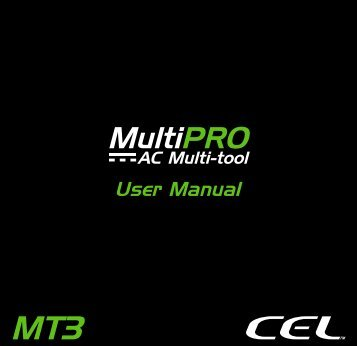 Page 1 Muli'iPRO ïAC MuItitool User Manual Page 2 THANK YOU ...