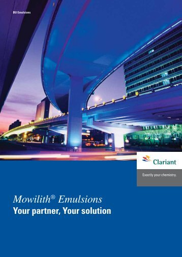 Mowilith® Emulsions - Emulsions - Clariant