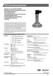 E970 Druckmessumformer - Baumer