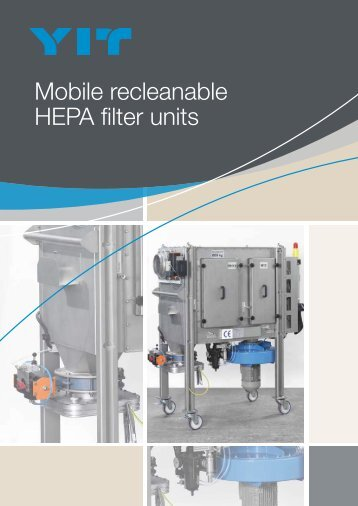 Mobile recleanable HEPA filter units
