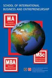 SIBE-Broschüre - School of International Business and ...
