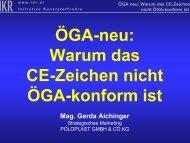 ÖGA-neu: Warum das CE-Zeichen nicht ÖGA-konform ist - IKR