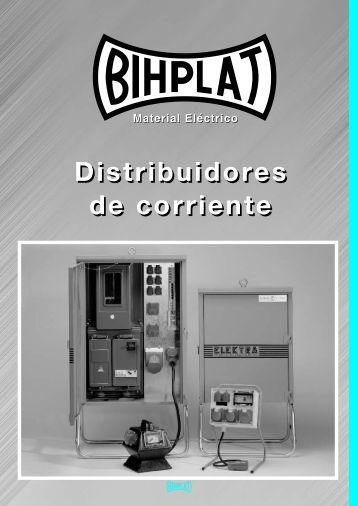 Distribuidores de corriente para obras. - BIHPLAT Material Eléctrico