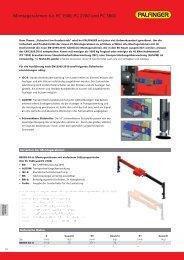 Montagerahmen für PC 1500, PC 2700 und PC 3800 - Palfinger
