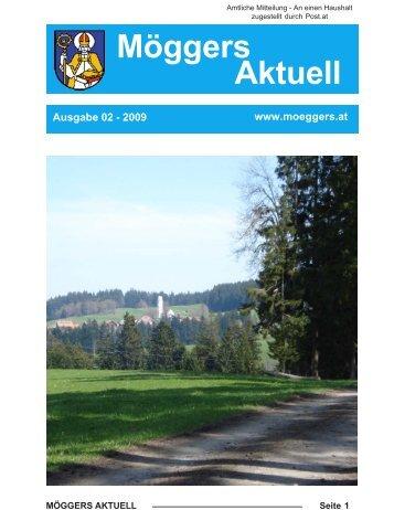 Möggers Aktuell April 2009 - Gemeinde Möggers