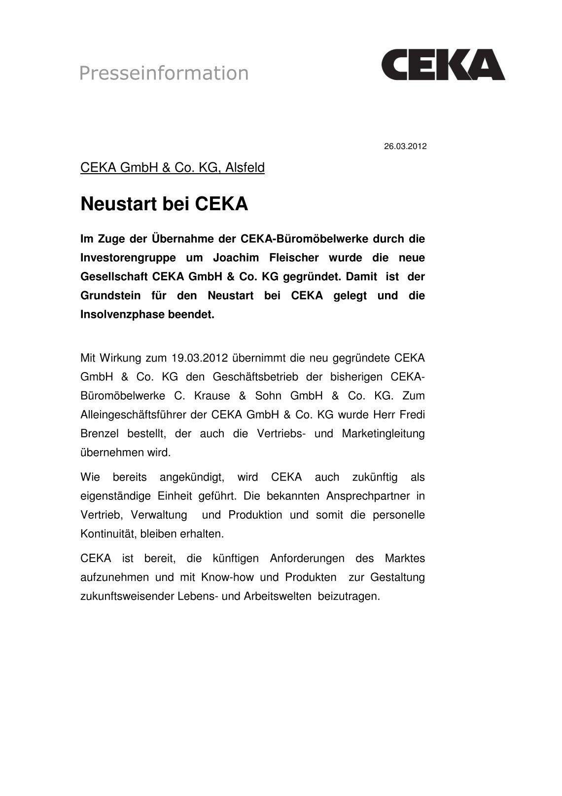 20 free Magazines from CEKA.DE