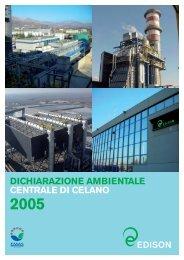 dichiarazione ambientale centrale di celano 2005 - Edison