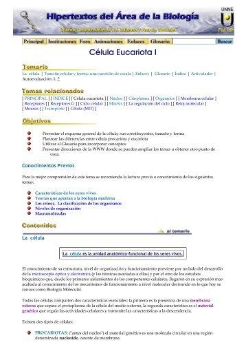 Célula Eucariota I - Hipertextos del Área de la Biología