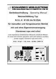 Netznachbildung Typ N S L K 8126 - Schwarzbeck Mess