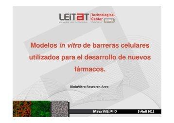 Modelos in vitro de barreras celulares utilizados para el ... - REMA