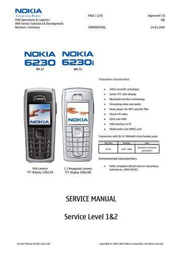 SERVICE MANUAL Service Level 1&2