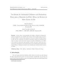 Um Estudo de Autômatos Celulares com Parâmetros ... - Unicamp