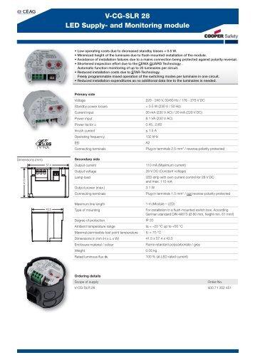 V-CG-SLR 28 LED Supply- and Monitoring module - Acasa   Intec ...