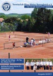 Clubzeitung Sommer-Saison 2011 - Tennisclub Blau-Weiss ...