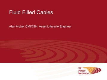 Fluid-filled cables overview - Energy Networks Association
