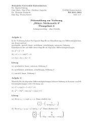 """Präsenzübung zur Vorlesung """" Höhere Mathematik 3"""" - Universität ..."""
